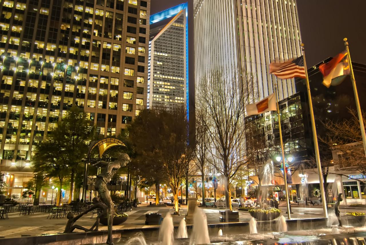 According to charlotte history, uptown has always been a center of trade
